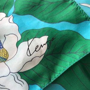 KENZO 100% Silk Signature Scarf
